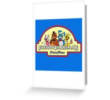 Five Nights at Freddy's 2 Freddy Fazbear's Logo  Greeting Card