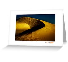 Golden Sand Dunes Greeting Card
