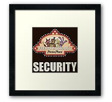 Five Nights at Freddy's Freddy Fazbear's Security Logo Framed Print