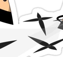 Ninja Triangles Sticker