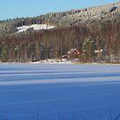 Winter at lake Lillsjön by ekolina