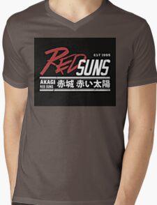 Red Suns. Mens V-Neck T-Shirt