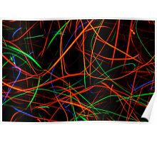 Streaks of colored light Poster