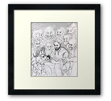 Welcome to the Family, Kili Framed Print