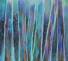 Aurora Borealis Trees Bioluminescent by ginbrooks