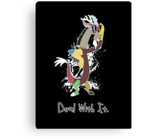 My Little Pony Discord - Deal With It Canvas Print