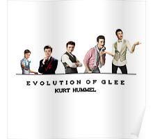 Evolution of Glee    Kurt Poster