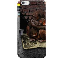 Homeless-Chimps-Justin-Beck-Picture-2015083 iPhone Case/Skin