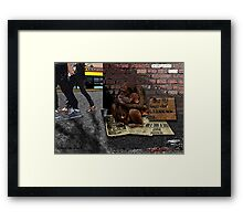 Homeless-Chimps-Justin-Beck-Picture-2015083 Framed Print