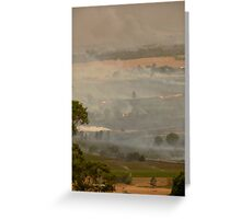 Yarra Valley Fires Greeting Card