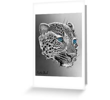 Leopard-Old-Blue-Eyes-Justin-Beck-Picture-2015098 Greeting Card