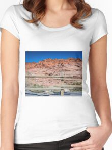 Red Rock Fence Women's Fitted Scoop T-Shirt