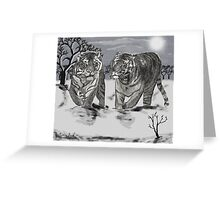 Snow Tigers Grey Justin Beck Picture 2015087 Greeting Card