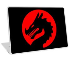 Red Luck Dragon Design, Luck Dragon Gifts Logo Design Laptop Skin