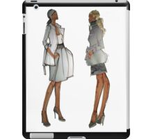 For Stylish Fashion Girls in shades of gray iPad Case/Skin