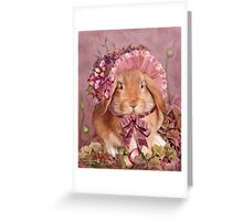 Bunny In Easter Bonnet Greeting Card