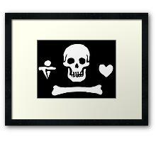 Stede Bonnet Pirate Flag Framed Print