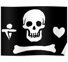 Stede Bonnet Pirate Flag Poster
