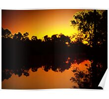 Sunrise, Silhouettes and Reflections Poster