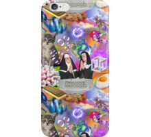 Sisters Paris & Nicole, Money, Fame, Power, a Dolphin, a Mermaid and a Cat iPhone Case/Skin