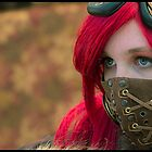 Mysterious Steam Punk Red Head by gosteampunk