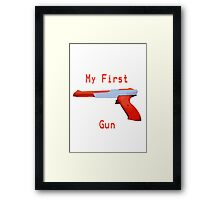 My First Gun Framed Print