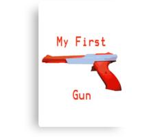 My First Gun Canvas Print