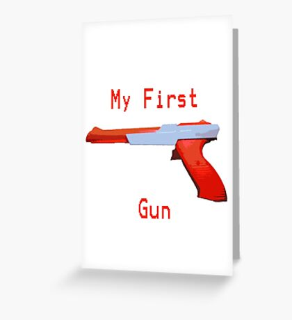 My First Gun Greeting Card