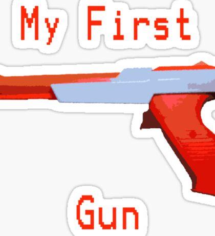 My First Gun Sticker