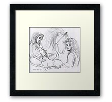 Eomer and Firefoot Framed Print