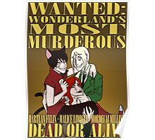 WANTED: Wonderland's Most Murderous Poster