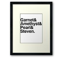 The Crystal Gems - Black Framed Print