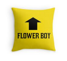 FLOWER BOY - yellow Throw Pillow