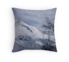View through the trees, Les Deux Alpes, The French Alps Throw Pillow