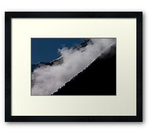 Mist above Lac du Chambon, The French Alps Framed Print