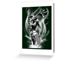 The necromancer(gray scale) Greeting Card