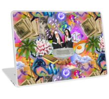 Sisters Paris & Nicole, Money, Fame, Power, a Dolphin, a Mermaid and a Cat Laptop Skin