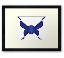 Simple Blue Butterfly Design Framed Print