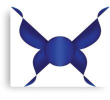 Simple Blue Butterfly Design Canvas Print