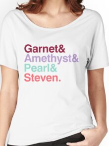 The Crystal Gems - Gem Colors Women's Relaxed Fit T-Shirt