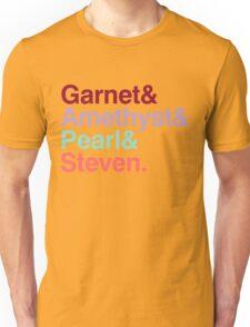 The Crystal Gems - Gem Colors Unisex T-Shirt