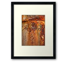 rusty, crusty and falling to bits Framed Print