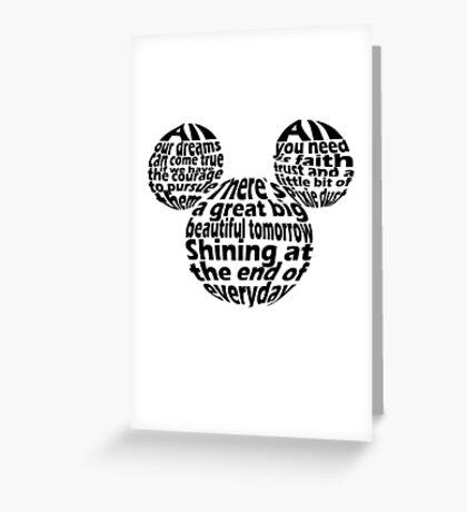 Hidden Mickey Qoutes Greeting Card