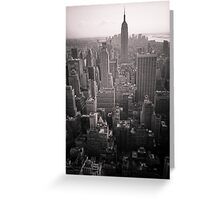 Empire State Building and South Manhattan Greeting Card