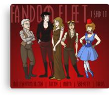 Fandom Fleet (print) Canvas Print