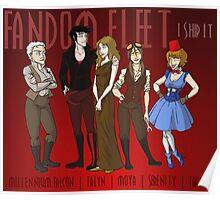 Fandom Fleet (print) Poster