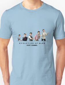 Evolution of Glee || Kurt Unisex T-Shirt