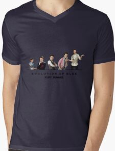 Evolution of Glee    Kurt Mens V-Neck T-Shirt