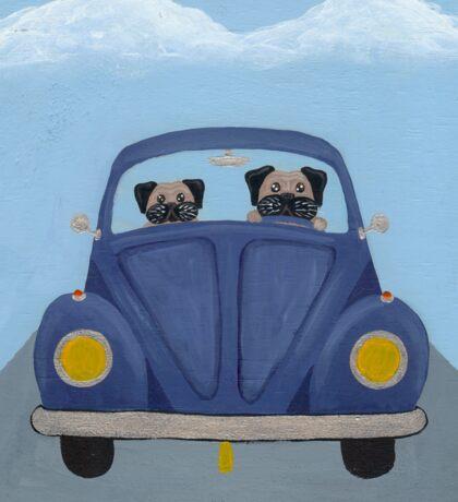 Pugs in a Bug Sticker
