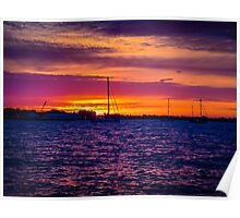 Sunrise Over The Severn River - Annapolis, MD Poster